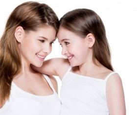 Beautiful young mother with her daughter's self-timer Stock Photo 05