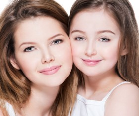 Beautiful young mother with her daughter's self-timer Stock Photo 06