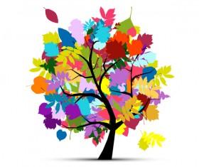 Beautifule floral tree vector material 05
