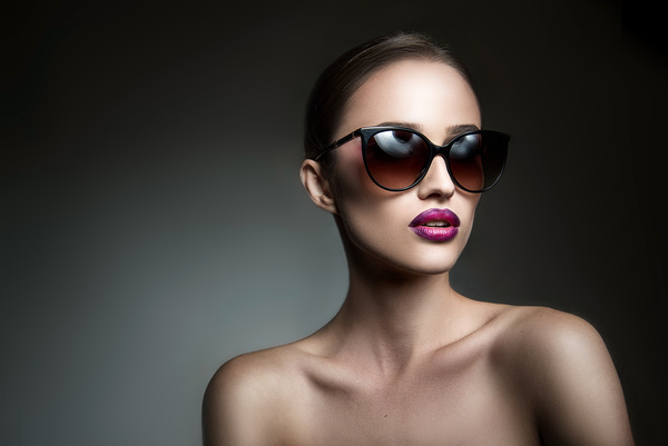 Beauty Fashion Model Girl With Sunglasses Stock Photo 03