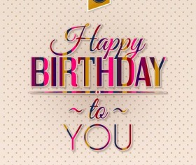 Beige birthday card vectors template