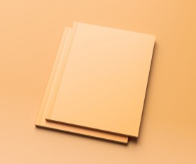 Blank Magazine on Orange Background Stock Photo 01