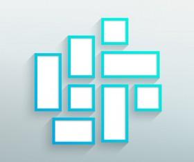Blank blue frames On the wall vector