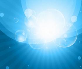 Blue Sky Bokeh Burst Background Vector Illustration