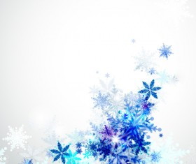 Blue snowflake christmas background vectors material 02