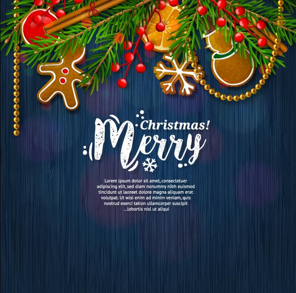 blue styles 2017 merry christmas vector cards