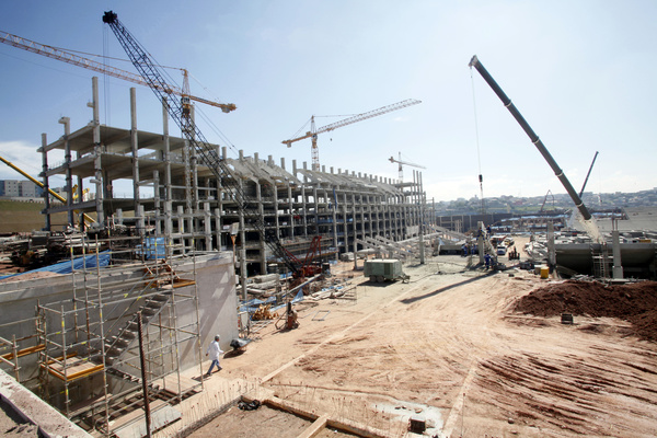 Busy construction sites Stock Photo