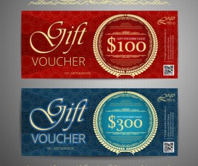 Cash gift voucher template vectors 02