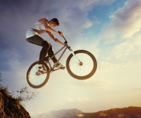 Challenging cycling HD picture