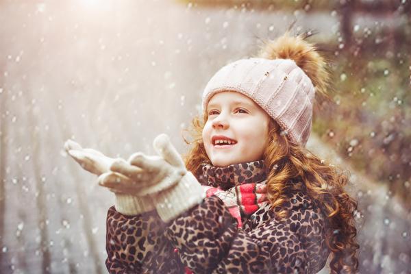 Children in winter outdoor snow stock photo kids stock - Catch de fille ...