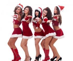 Christmas Dress up woman Stock Photo 03