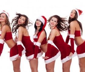 Christmas Dress up woman Stock Photo 06