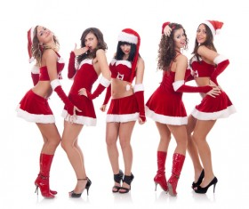 Christmas Dress up woman Stock Photo 07