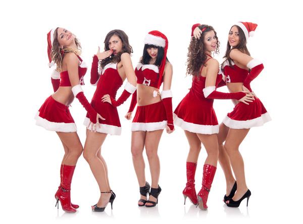 Christmas Dress up woman Stock Photo 07