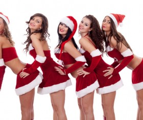 Christmas Dress up woman Stock Photo 08
