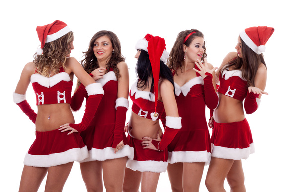 Christmas Dress up woman Stock Photo 10