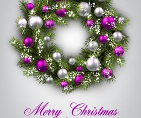 Christmas ball frame with greeting card vector