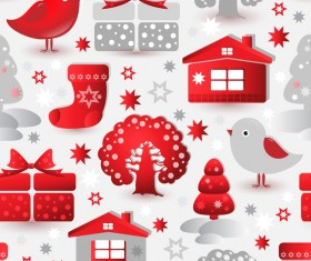 Christmas sample elements vector seamless pattern 02