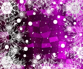 Christmas snowflake with shiny polygon background vector 26