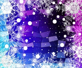 Christmas snowflake with shiny polygon background vector 27