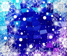 Christmas snowflake with shiny polygon background vector 28