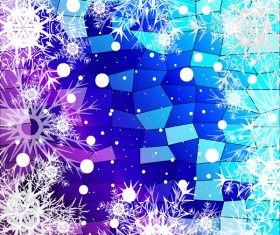 Christmas snowflake with shiny polygon background vector 29
