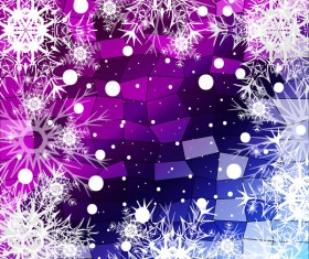 Christmas snowflake with shiny polygon background vector 30