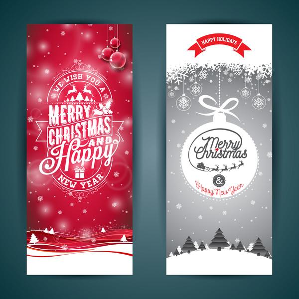 Christmas vertical banner creative design 01