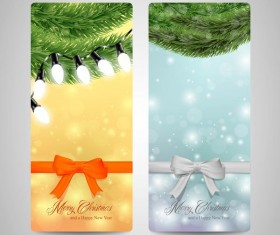 Christmas vertical banner design vectors 04