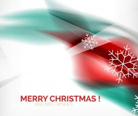 Christmas wishes card with snowflake vector 01