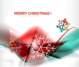 Christmas wishes card with snowflake vector 02
