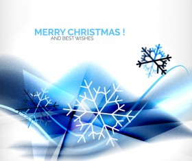 Christmas wishes card with snowflake vector 03