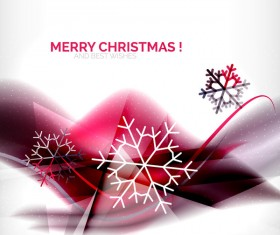 Christmas wishes card with snowflake vector 04