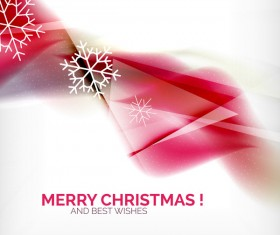 Christmas wishes card with snowflake vector 11
