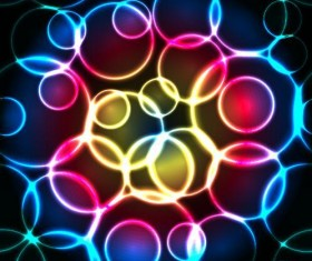 Circularity colorful light vectors backgrounds 02