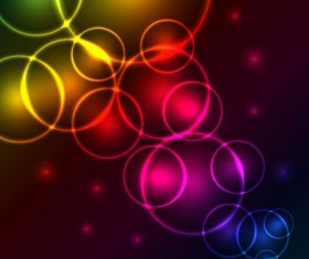 Circularity colorful light vectors backgrounds 03
