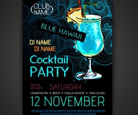 Cocktail party poster and flyer template vector 10