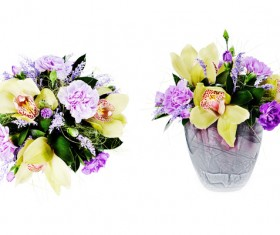 Colorful bouquet with flowers Stock Photo