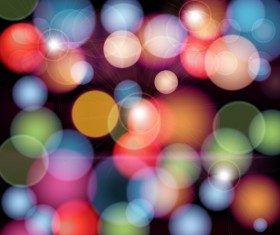 Colorful circles blurs background vector