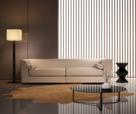 Contemporary modern wall system living room Stock Photo 01
