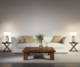 Contemporary modern wall system living room Stock Photo 03