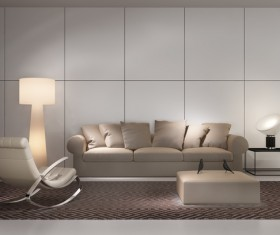 Contemporary modern wall system living room Stock Photo 04