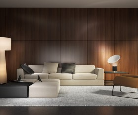 Contemporary modern wall system living room Stock Photo 05