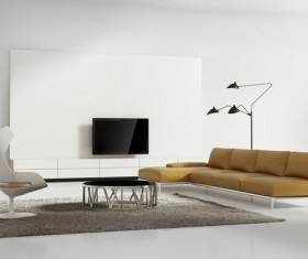 Contemporary modern wall system living room Stock Photo 07