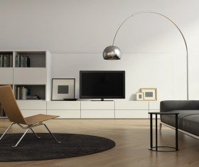 Contemporary modern wall system living room Stock Photo 08