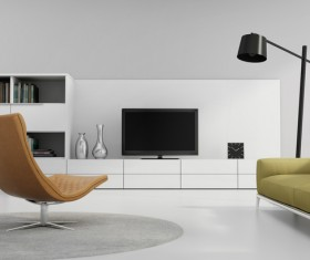 Contemporary modern wall system living room Stock Photo 09