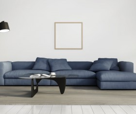 Contemporary modern wall system living room Stock Photo 10