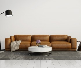 Contemporary modern wall system living room Stock Photo 11