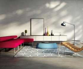 Contemporary modern wall system living room Stock Photo 12