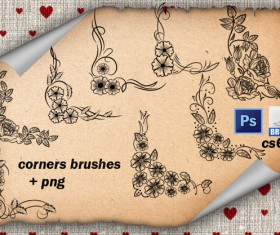 Corners Floral PS Brushes